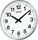 【名入れ 文字入れ無料】SEIKO CLOCK (セイコー クロック) 掛時計/掛け時計 屋外 防雨型 クオーツ 金属枠 KH411S