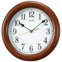 SEIKO CLOCK (セイコー クロック) 掛時計/掛け時計 クオーツ 木枠 茶 KX603A