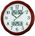 SEIKO CLOCK (セイコー クロック) クロック 液晶表示つき掛時計/掛け時計 電波掛時計/掛け時計 温度・湿度・カレンダー表示 木枠 KX369B