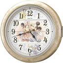 送料無料!★セイコークロック Disney (ディズニータイム) 掛け時計 ミッキー & フレンズ 電波時計 ツイン・パ FW561A