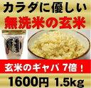 【無農薬国産玄米 玄氣1.5kg】無洗米・白米モードで簡単においしく炊ける!!4時間水に浸せば