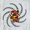 ショッピンググレー 【KIDS YOUTH TEE】スパイラル ベアーTシャツ-グレー/オフィシャル【デッドべアー ダンシングベアー ベアヘッド バンドT ロック フェス ベビー キッズ 子供服 トップス 半袖】SPILAL BEAR T-SHIRTS GRAY【GRATEFUL DEAD】【TOPS】【3275】