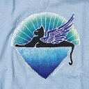 ショッピング服 【KIDS YOUTH TEE】グレイトフルデッド ウィングド キャットTシャツ・全1色-ブルー/オフィシャル【デッドべアー ユースT バンドT ロックT キッズ 子供服 トップス 半袖】WINGED CAT BLUE T-SHIRTS【GRATEFUL DEAD】【TOPS】【DSWCY】