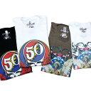 ショッピング限定 【限定】グレイトフルデッド インディアン 50周年Tシャツ・全2色/オフィシャル【50周年記念モデル 数量限定 ネイティブ 骸骨】GD 50TH INDIAN T-SHIRTS WH/BR【GRATEFUL DEAD】【TOPS】【MWT50ITWH_BR】