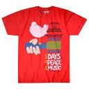 ショッピングレッド 【 WOOD STOCK 3 Days Red T-Shirt 】ウッドストック