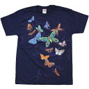 【 UNIQUE TEE 】【 EXOTIC BUTTERFLIES T-SHIRTS 】【 ルックアンドタッチ バタフライTシャツ 】 / ユニーク 蝶々 虫 アニマル 生き物 LOOK TOUCH ハロウィン HALLOWEEN