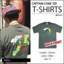 ショッピングPT 【PRINT TEE】キャプテンコーン Tシャツ・全1色 / フィッシュ オフィシャル / オーガニックコットン / 半袖 プリントTシャツ バンドT / CAPTAIN CORN ON GREEN T-SHIRTS【PHISH】【TOPS】