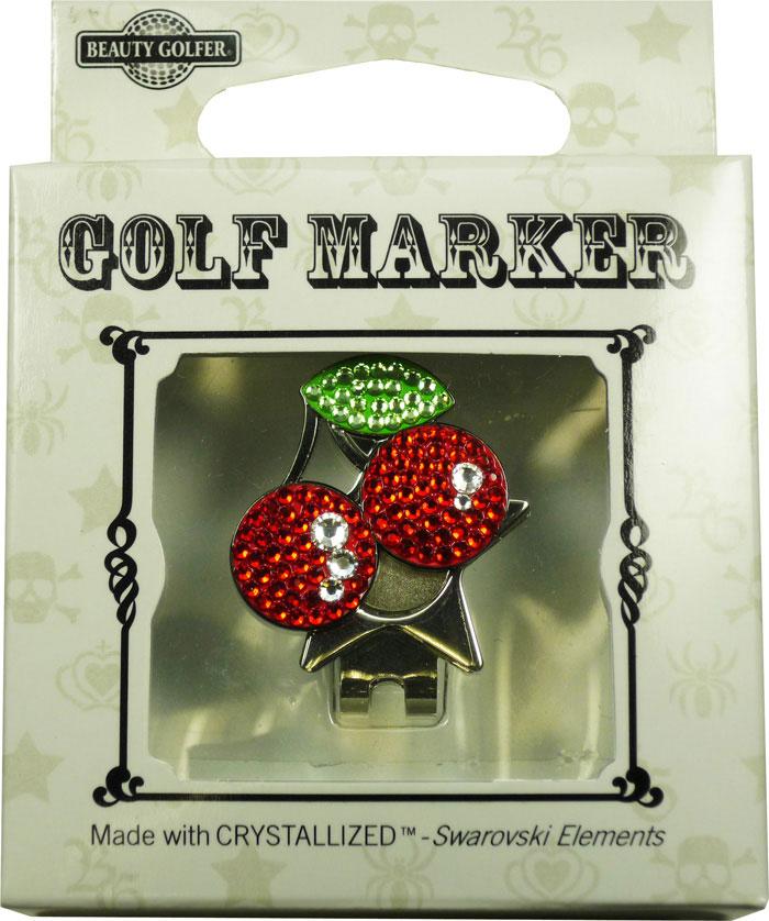 【普通郵便で送料無料】スワロフスキー付ゴルフマーカー(BG-7)Golf Marker with Swarovski
