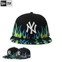 ショッピングニューエラ キャップ NewEra ニューエラ 帽子 キャップ メンズ レディース ブラック カラー かっこいい お洒落 UV ファッション プレゼント ギフト ニューヨーク ヤンキース NE 59FIFTY Fire Pattern