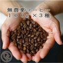 送料無料八月の犬 お試し無農薬100gx3種セットコーヒー豆お試しコーヒーゆうパケット発送【RCP】
