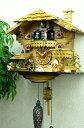 鳩時計 壁掛け時計 ハト時計 はと時計 ポッポ時計クォーツ式 木こりのお仕事 490C-QMT 10P09Jul16の写真
