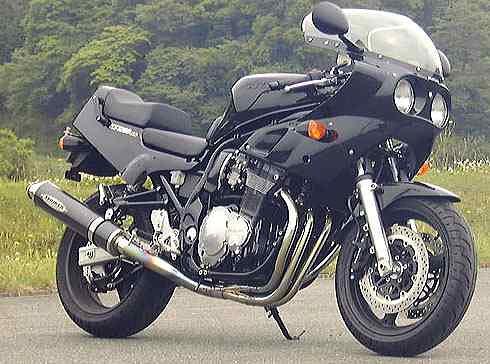 【COLORS】【STRIKER】【マフラー】【バイク用】TEMAGE ステンレスフルエキゾースト 4-1 STD GS1200SS【1401A】