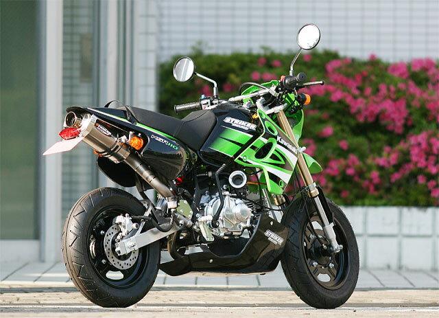 【STRIKER】【ストライカー】【マフラー】【バイク用】パワーミニ キャノンタイプマフラーB センター/UP1本出し KSR110【5609OTQ】【送料無料】