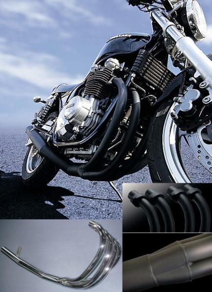 【M-TEC】【エムテック】【マフラー】【バイク用】NEWショート管 ブラック ZEPHYR ゼファー750/RS MRS-MUK75-01B【送料無料】