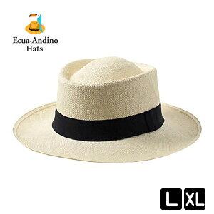 エクアドル パナマ帽 ポークパイハット ストローハット