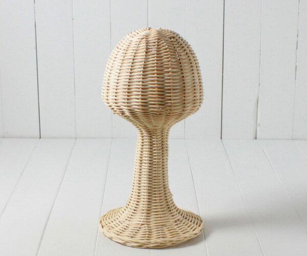 ラタン帽子スタンド[Mサイズ]籐スタンド/帽子掛け/帽子置き/