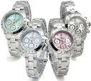 限定品 アンクラーク ハッピーミニクロノグラフ ANNE CLARK U.S.A レディース 腕時計...