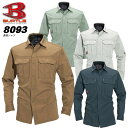 ショッピング刺繍 バートル BURTLE 長袖シャツ 8093 【春夏向け】作業着 作業服 8091シリーズ【4L-5L】
