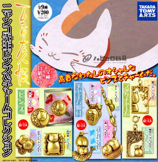 Takaratomy Arts Natsume friends book nyanko-Sensei pins & charms collection all 9 pieces