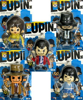 LUPINIII×PansonWorks Lupin III soft vinyl Figure 4 cymbal star all 5 species set