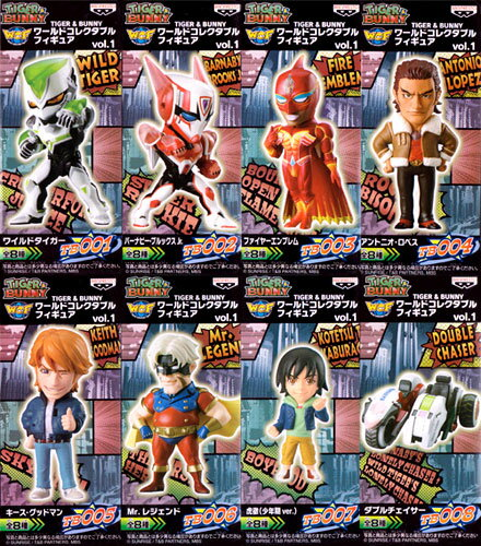 ! Bargain SALE! TIGER & Bunny 8Type figure vol.1 8 set