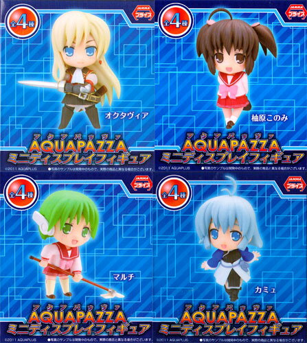 All four kinds of AQUA PAZZA- アクアパッツァ - MDF mini-display figure skating sets