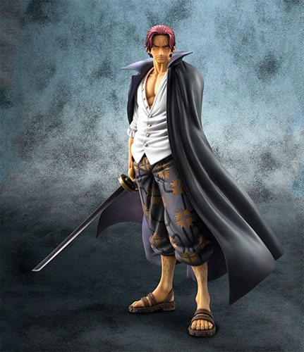 Megahouse excellent model ONEPIECE P.O.P portrait-of-pirates neo-DX red hair Shanks PVC