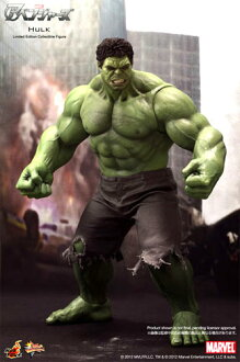 Hot toys movie masterpiece the Avengers' Hulk 1 / 6 scale fully poseable figure