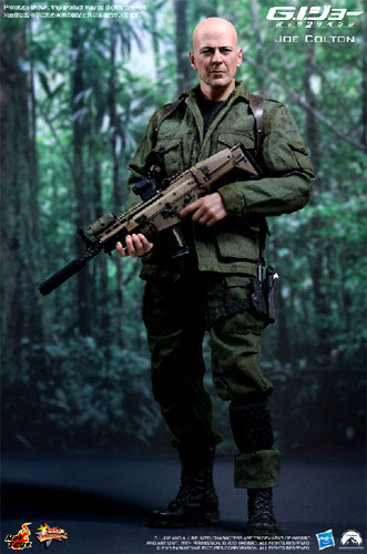 "Hot toys movie masterpiece ""G. I. Joe back 2 revenge of the fallen' Joe Colton 1 / 6 scale fully poseable figure ☆ ★"