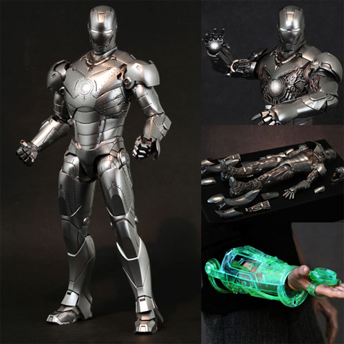 Hot toys movie masterpiece [iron man 2] iron man Mark 2 (armor unleashed version ) [with bonus Accessories: 1 / 6 scale figure