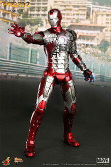 "5 hot toys movie masterpiece ""eye 2, Amman"" iron man mark 1/6 scale figure skating"