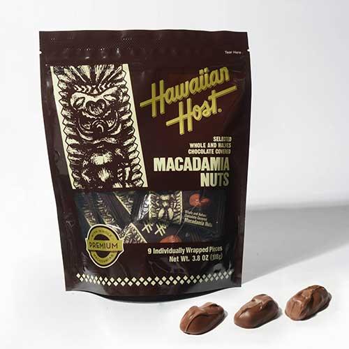 【ハワイアンホースト公式店】マカデミアナッツチョコレートTIKIバッグ(9粒)|ハワイ お土産
