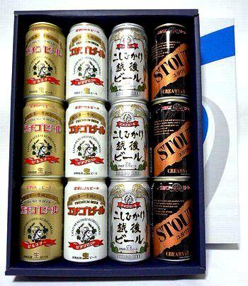 【送料無料】エチゴビール4種350ml×12缶 飲み比べセット【送料無料100215】