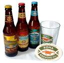 【KonaBeer】コナビール定番3種9本+グラス・コースターセット
