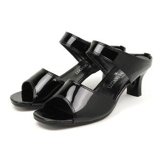 盧西亞諾 · 瓦倫蒂諾義大利辦公室涼鞋騾子女性舒適黑色涼鞋女性可愛辦公室涼鞋疲憊的雙腿騾子婦女鞋跟流行帶涼鞋低跟 109-1552