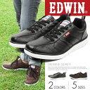 【送料無料】EDWIN 軽量 ローカット スニーカー メンズ 人気 ネイビー 黒 カジュアル靴 キャンバス デニム ウォーキングシューズ カジュアルシューズ 皮 通学シューズ 靴 レースアップ 紳士 父の日 プレゼント ED-7141