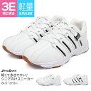 【送料無料】軽量 ウォーキングシューズ メンズ 3e 靴 メンズ 疲れない スニーカー 白
