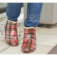 【MonFrere/モンフレール】レインブーツレディースショートガーデニングレインシューズ完全防水ドットチェック黒花パープルガーデニングブーツガーデンブーツスノーブーツ靴雨レイングッズ雨靴長靴梅雨LB830702P07Feb16