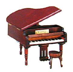 標準18弁ミニアンティークグランドピアノオルゴール【楽ギフ_包装選択】【楽ギフ_のし宛書】