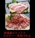 極みチョイス!【送料無料】林SPF銘柄豚 『極み』とんかつ・焼肉 贈答用セット1.2kg 【楽ギフ_のし】【楽ギフ_のし宛書】