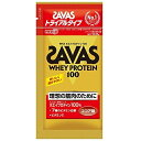 SAVAS(ザバス) ホエイプロテイン100 ココア味 トライアル 【10.5g×6個】(明治)