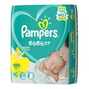 (送料無料)パンパース さらさらケアテープ  スーパ−ジャンボ 新生児【90枚×4個】(P&GJapan)【ベビー用品/テープ止めタイプ】