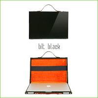 【PROTEX】 ブリーフケース/MacBookケースbit(ビット)ブラック×スエードレザー