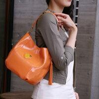 【ATAO】2013年新作エナメルレザーのワンマイルバッグCandy(キャンディエナメル)マリーオレンジ
