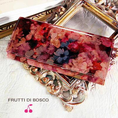 【FRUTTI】ここでしか出会えない限定レザーで仕立てる長財布ALBA Alice(アルバ アリス)FRUTTI DI BOSCO 財布 レディース 本革 花柄 ピンク