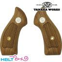 【タナカワークス(Tanaka)】木製グリップ S W M36 用(M40/M49共用 ウォールナット チェッカー メダル)/SW/Smith Wesson/Jフレーム