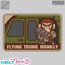 【MSM(ミルスペックモンキー)】パッチ Flying Trunk Monkey(刺繍)/MIL-SPEC MONKEY/ベルクロ/パッチ/ワッペン/猿/サバゲ...