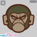 パッチ MSM ミルスペックモンキー Monkey Head(PVC) メール便 対応商品/ベルクロ パッチ ワッペン ミリタリー 猿 サバゲ 装備 MIL-SPEC MONKEY サバゲー