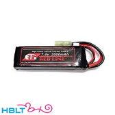 【ET1】バッテリー LIPO R 7.4v 2000mAh レッドライン(ミニS)|ETR220B/ET-1