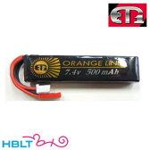 【ET1】バッテリー LIPO O 7.4v 500mAh オレンジライン(ハンドガン/SMG)|ETO205/ET-1/リポ